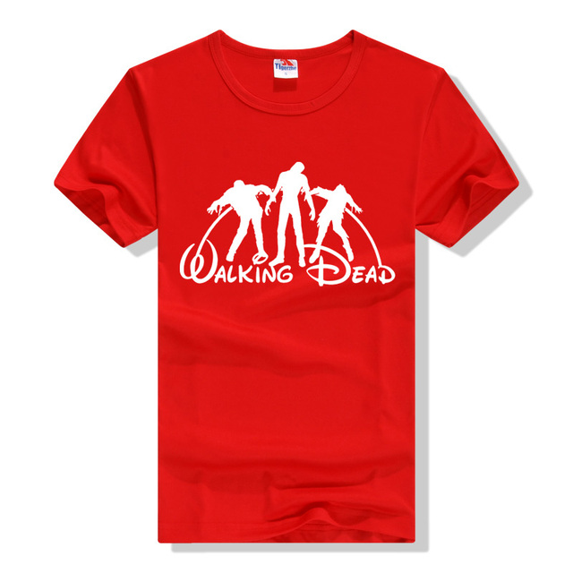 The Walking Dead Slim Fit Tee – Camiseta Longa Hip Hop Streetwear T-Shirt