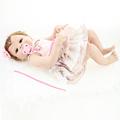 Full Silicone Reborn Baby Girls Dolls Lifelike Newborn Girl Babies Alive Doll for Child Bath Shower