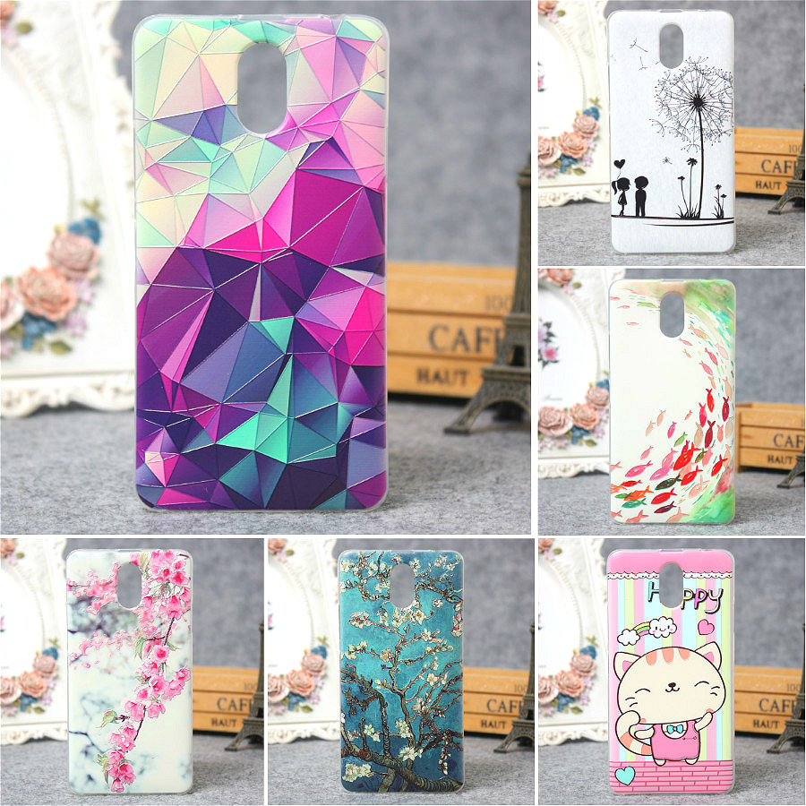 For Lenovo Vibe P1m Case 3D Relief Painting Ultra Thin Soft TPU Phone Cover Silicon Back Cover For p1m case for lenovo vibe(China (Mainland))