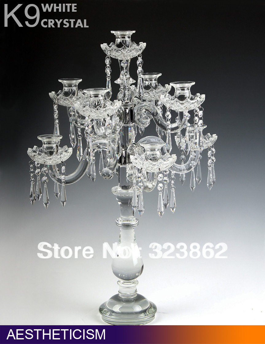 wholesale Crystal Candle holders for Glass Wedding Decoration & Table centerpieces(China (Mainland))
