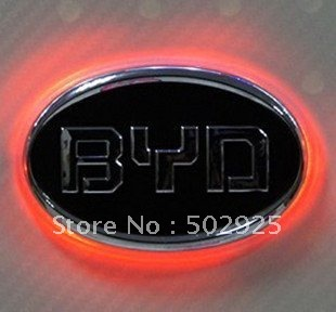 Free Shipping    new Fashion Shiny LED Car Emblem Badges for  BYD F3  wholesale & retail
