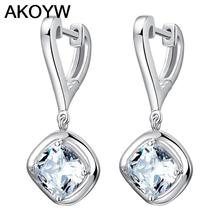 Hong Kong high-end earrings Silver plated ear  earrings vintage jewelry cute female models fashion crystal jewelry(China (Mainland))