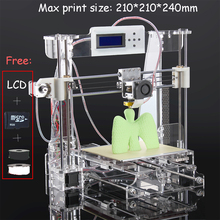 Free shipping size 210*210*240mm High Quality Precision Reprap Prusa i3 DIY 3d Printer kit with 8GB SD card+1kg PLA consumables