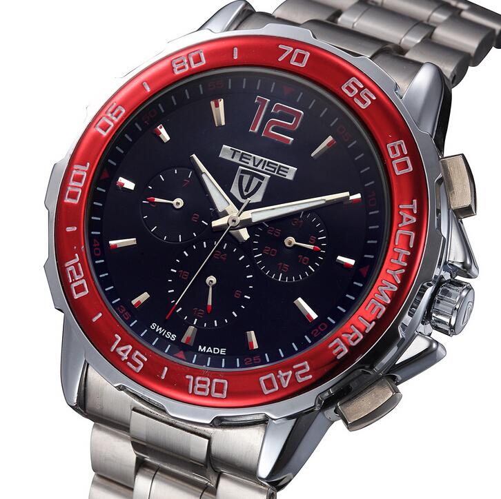 Гаджет  TEVISE Brand Shock Resistant Automatic Mechanical  Men Military Watch Men Genuine Leather Sport Wrist Watch Relogio Masculino None Часы