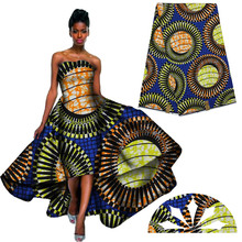 Free shipping ! best quality!! veritable dutch real wax hollandais wax ,african printed fabric 100% cotton Nigeria H1591102(China (Mainland))
