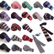 New Fashion Male Brand Slim Designer Knitted Neck Ties Cravate Narrow Skinny Neckties For Men C1