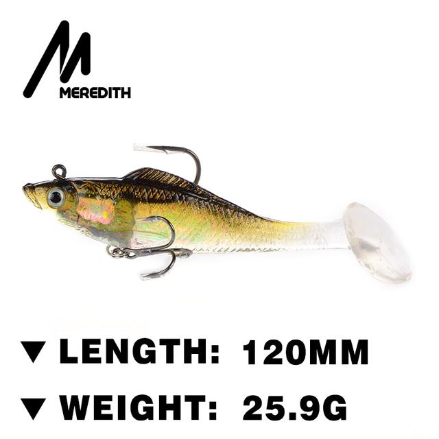 Meredith fishing jxj01 12 3pcs 120mm soft lead fish for Lake meredith fishing report