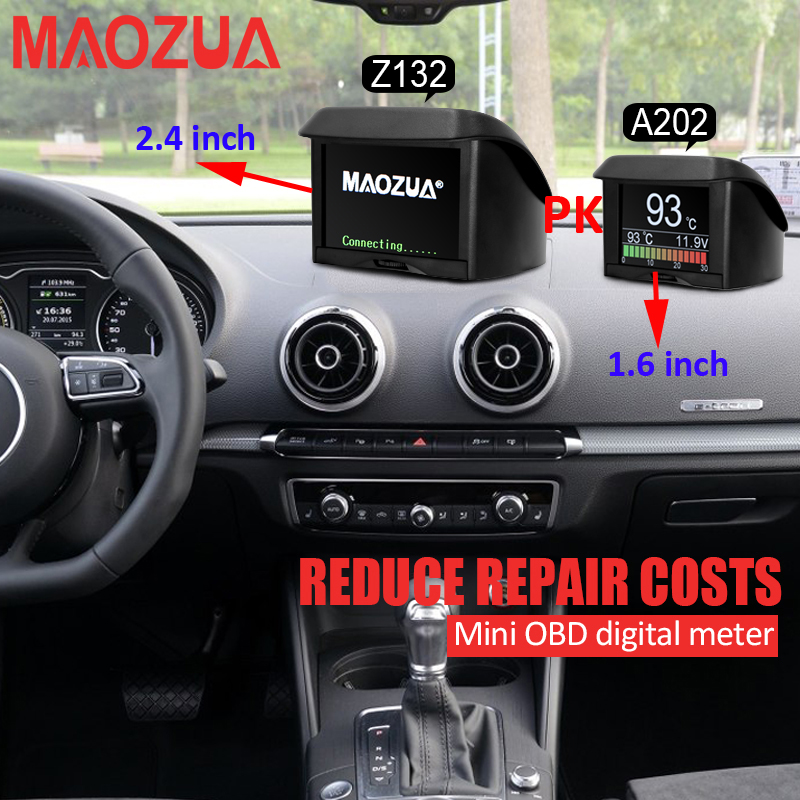 Z132 Water Temperature Gauge Digital Voltage Tachometer Speed Meter Display OBD Driving Computer Car Thermometer DTC PK A202 X50(China (Mainland))