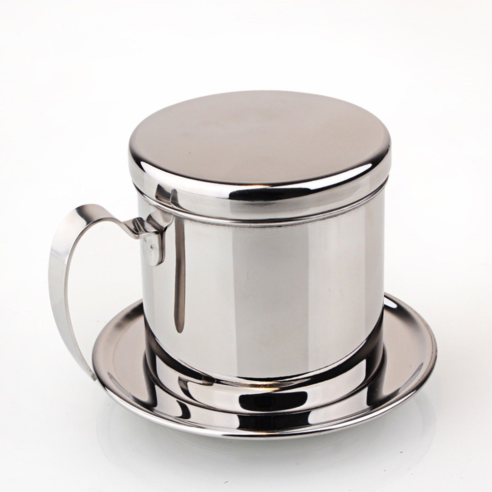 Coffee Maker With Metal Filter : 1PC Vietnamese stainless steel filter/Espresso Coffee Maker Percolator