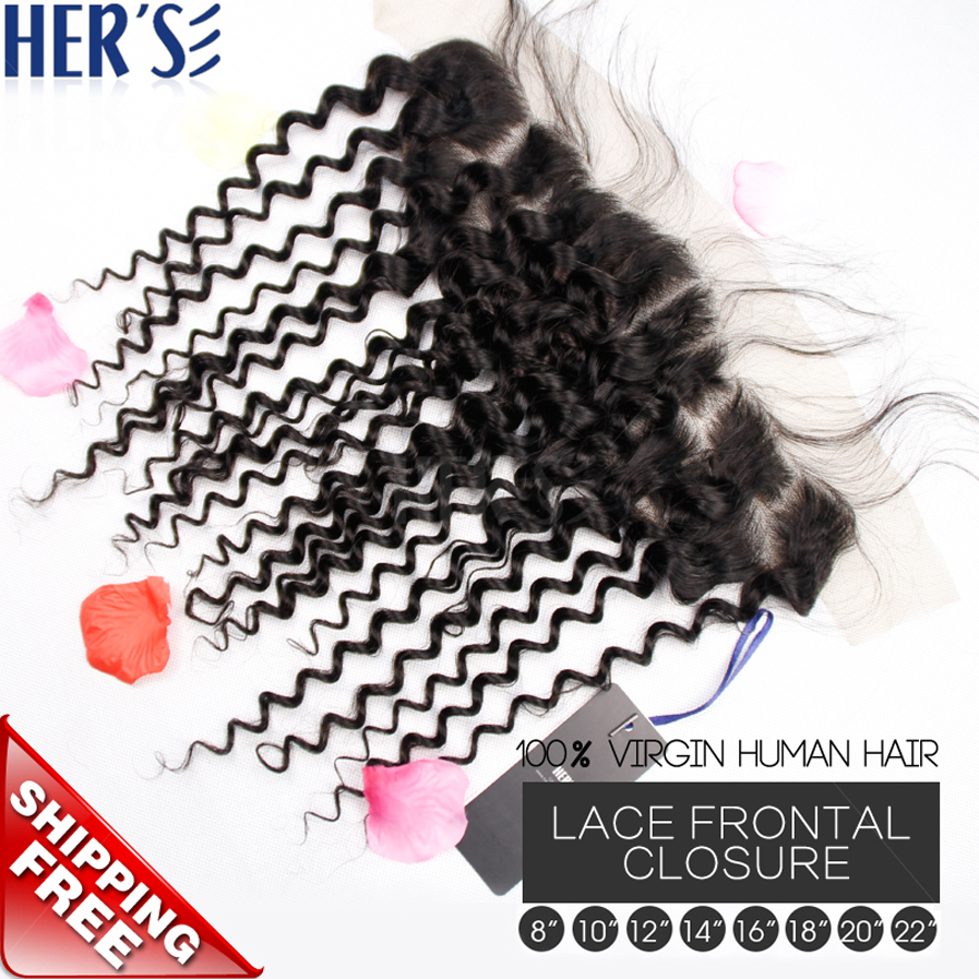 HERS Malaysian Deep Curly Virgin Human Hair Closure,13x4 Lace Front Closure Piece,Unprocessed Virgin Curly Weave Hair Closure<br><br>Aliexpress