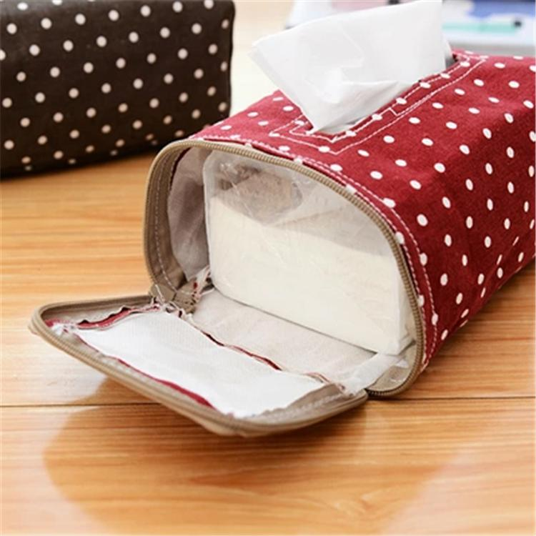 Creative Table Decoration Cotton Tissue Boxes Candy Color Dot Storage Tissue Case Facial Tissue Home(China (Mainland))
