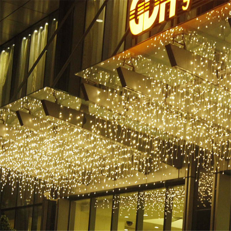 Curtain Fairy Lights 3.5M 96leds Led String Light Christmas 110V/220V Wedding Garland Outdoor Curtain Rope Lamps 9 colors(China (Mainland))