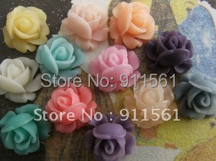 supernova sales Free shipping12mm 13Colors Resin Flowers for Jewelry/Mobilephone Decoration DIY Handmade Accessories 40PCS/lot
