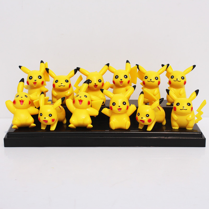 5sets 12 Styles Pokemon Pikachu Figure Toys PVC Doll Collective Toys Gift For Children Free Shipping<br><br>Aliexpress