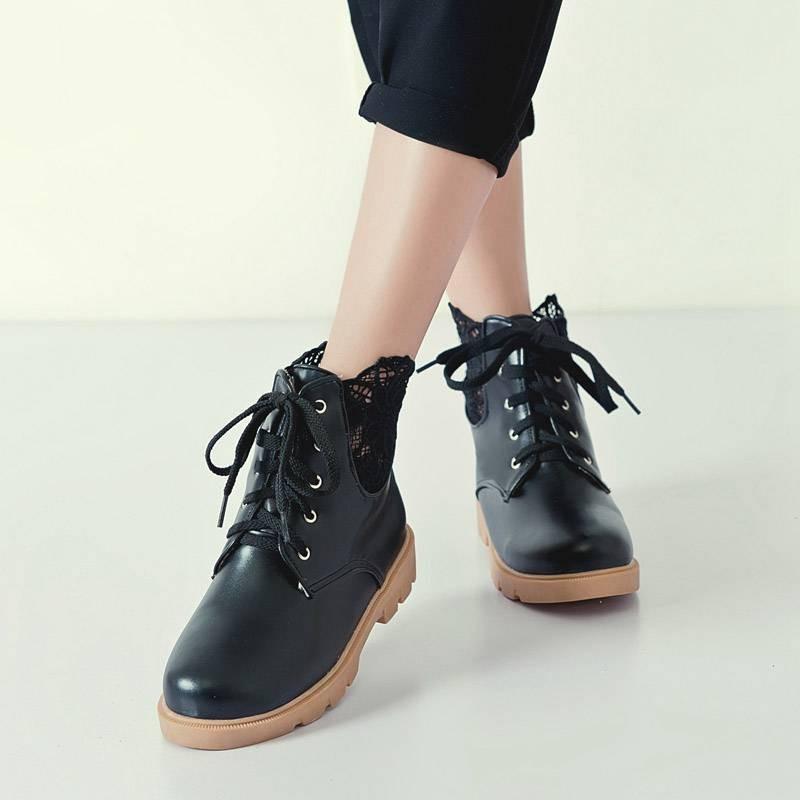 ซื้อ พลัสSize34-43 2016ใหม่มาร์ตินรองเท้าผู้หญิงแฟชั่นรองเท้าแฟลตแข็งรองเท้า4สีฤดูหนาวข้อเท้าอบอุ่นรองเท้าหิมะSBT1641