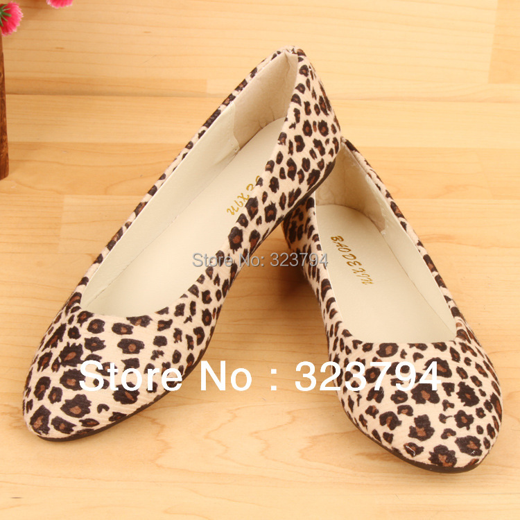 Low Price Fashion Leather Uppers Flat Shoes Chic Leopard Grain Lady Women's Stylish Casual - Fisa Trade store