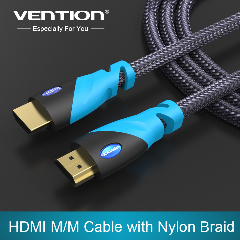 Vention HDMI Cable 1m 2m 3m 5m Male to Male Gold Plated HDMI 1.4V 1080P 3D for PS3 projector HD LCD Apple TV computer cable(China (Mainland))