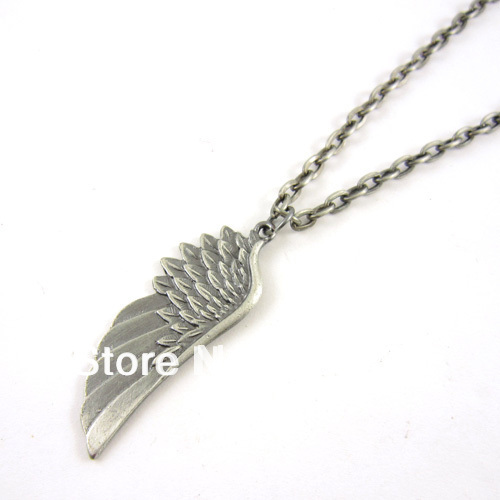 2014 Collar Charm Tops Personality The Angel Wings Individuality Necklaces & Pendants Necklace Pendant for Men free Shipping(China (Mainland))