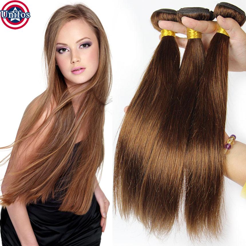 Light Brown Brazilian Hair Light Brown Straight Weave Color 4 Light