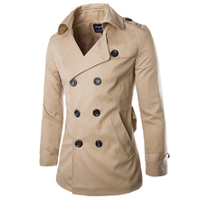 2016 New Arrival Men's Fashion Popular Trench High Quality Good Design M-2XL For Male Coat Wholesale MWF104(China (Mainland))