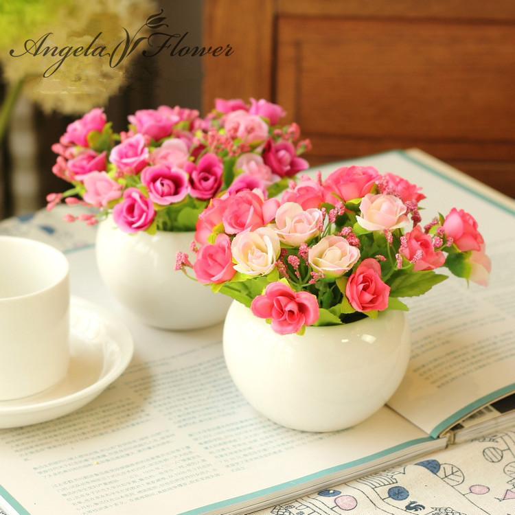 flowers artificial flower set home decoration office balcony decorate