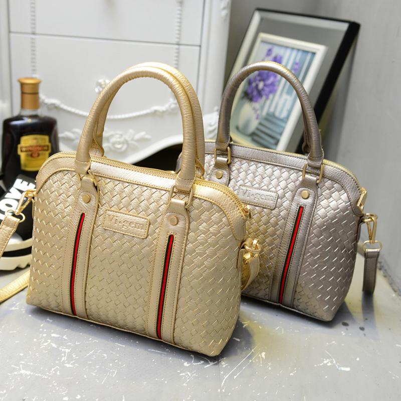 New bag handbag shoulder bag retro tide female our hand woven bag OL commuter(China (Mainland))