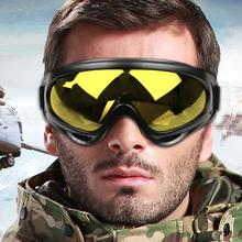 WOSAWE Black frame Mens Snow Ski goggles Glasses Outdoor Sport Motorcycle Cycling Sunglasses Eyewear Lens Yellow