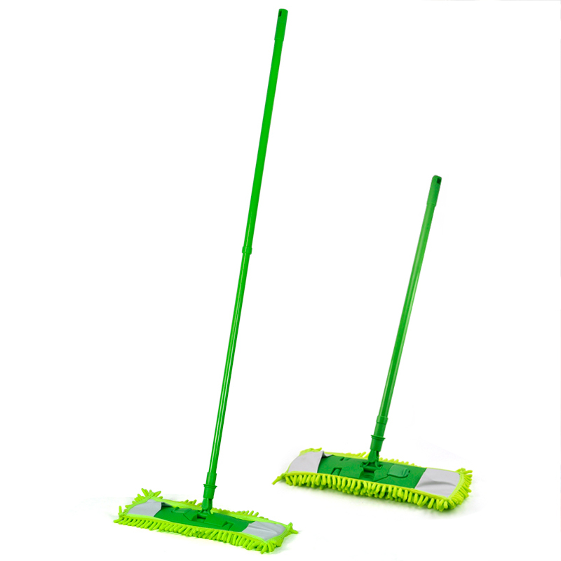 LHLL-New Extendable Microfibre Mop Cleaner Sweeper Wet Dry - Green(China (Mainland))