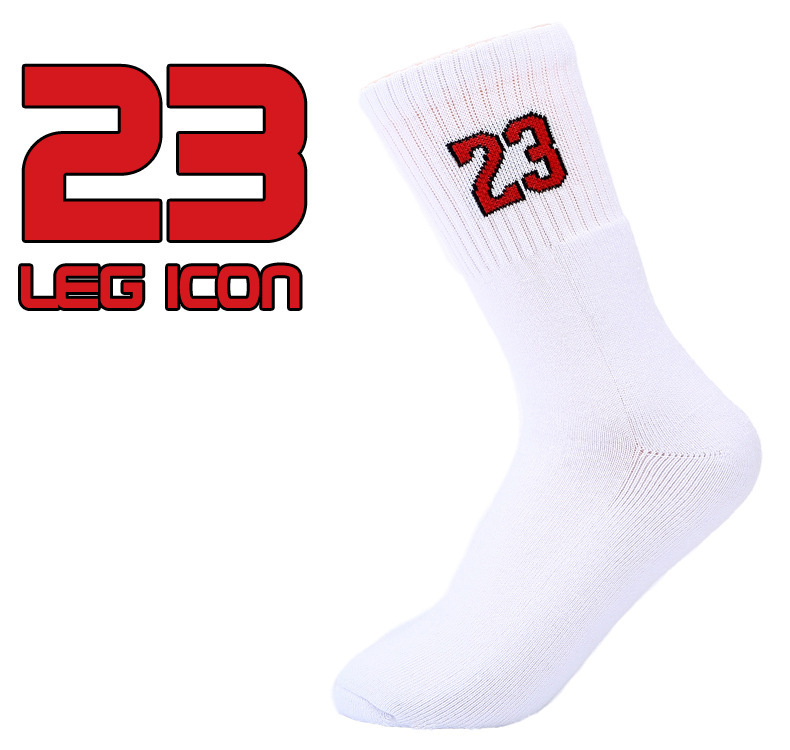 1Pair High quality men s Professional Cartoon sports socks No 23 elite basketball socks thick terry