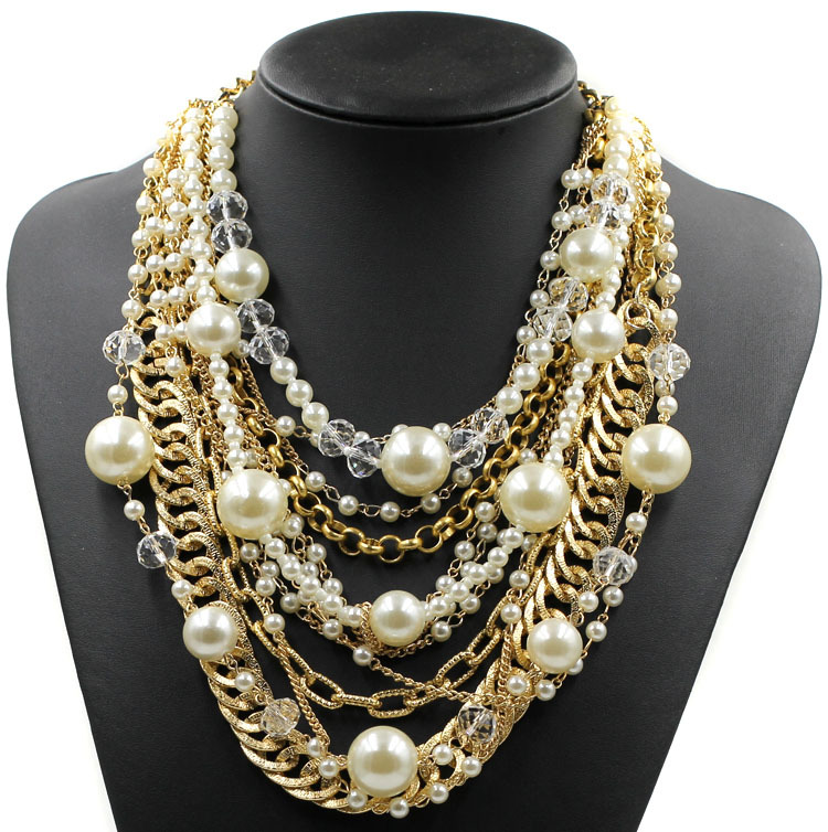 2015 NEW fashion necklace collar pearl Necklaces ...