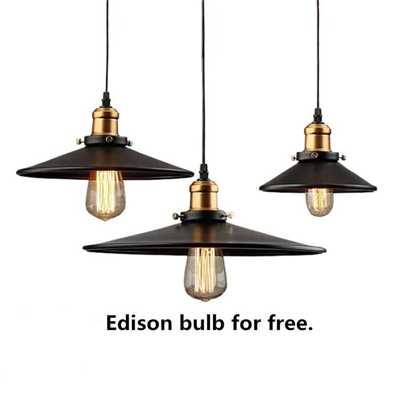 led vintage pendant lamp edison bulbs chandelier. Black Bedroom Furniture Sets. Home Design Ideas