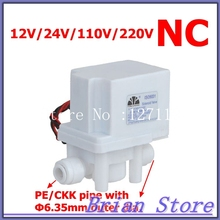 "24VDC 1/4"" Hose quick connection NC Plastic Electric Water Solenoid Valve 18 seconds AUTO Flush valve(China (Mainland))"