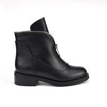 HARAVAL 2019 moda İngiliz rüzgar kadın botları sığ ağız yuvarlak yarım çizmeler rahat sıcak kadın ayakkabı moda çizmeler XL B202(China)