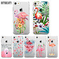 Case For iPhone 6 7 5s 6plus For Samsung Galaxy S6 7 Edge Colorful Flower Flamingo