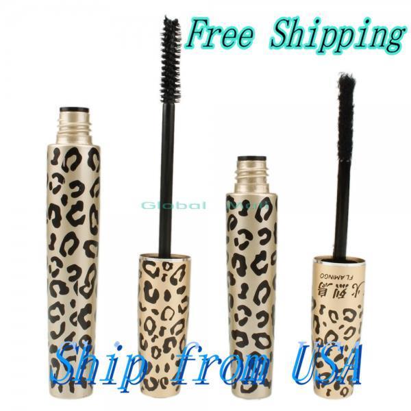 Ship From USA Leopard Lash Expansion Natural Fiber Mascara Set 10005458(China (Mainland))