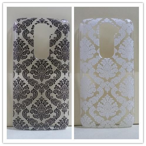 Гаджет  Vintage Black &White Paisley Flower Hard Floral PlasticSkin Cover Case For LG G2 mini D618  drop shipping None Телефоны и Телекоммуникации
