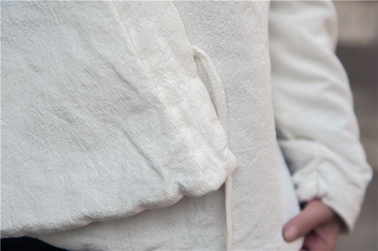 Скидки на Женщины Хлопок и лен Телогрейки Женский Осень Зима Китайский стиль Свободный Китайская одежда Пальто Шинель Мягкий И Пиджаки