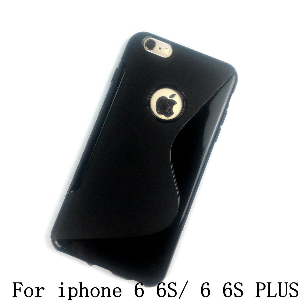 Original Luxury S Line Silicon Soft TPU Black Cover Case For iPhone 3 3G 3GS 4 4S 5 5S SE 5C Touch 5 6 6S PLUS Phone Cases