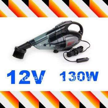 DC 12V 130W High power mini Portable Vacuum cleaner with Double filter For Car Auto
