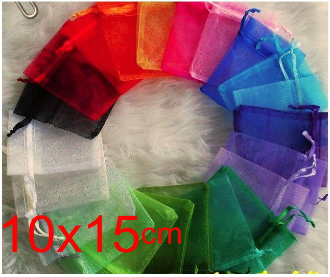 OMH 510x15cm 10color mix chinese Christmas Wedding voile gift bag Organza Bags Jewlery packing Gift Pouches BZ09 - Bead store