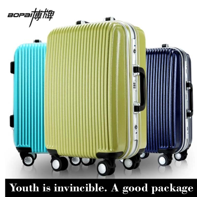 BOPAIFENGFAN  large capacity luggage  aluminum frame universal wheels trolley luggage hard-shell case