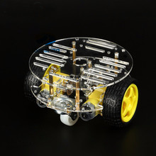 Buy Official iSmaring New Version 1Set 2WD Mini Round Double-Deck Smart Robot Car Chassis DIY Kit Tracing Strong Magnetic Motor Car for $12.30 in AliExpress store