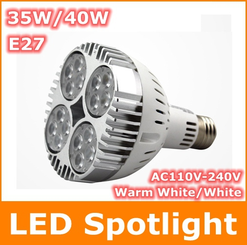 E27 35W 40W COB Cree LED Spotlight Bulb AC100-240V Warm White High brightness Energy Saving Led bulb lamp Light - Tomtop supermarket store