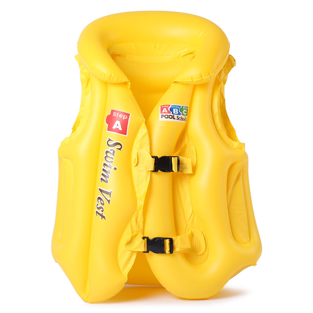3 Size Adjustable Children Kids Babys Durable Thickening Inflatable Life Vest Swimsuit Child Swim Safety Vest Swimming Equipment(China (Mainland))