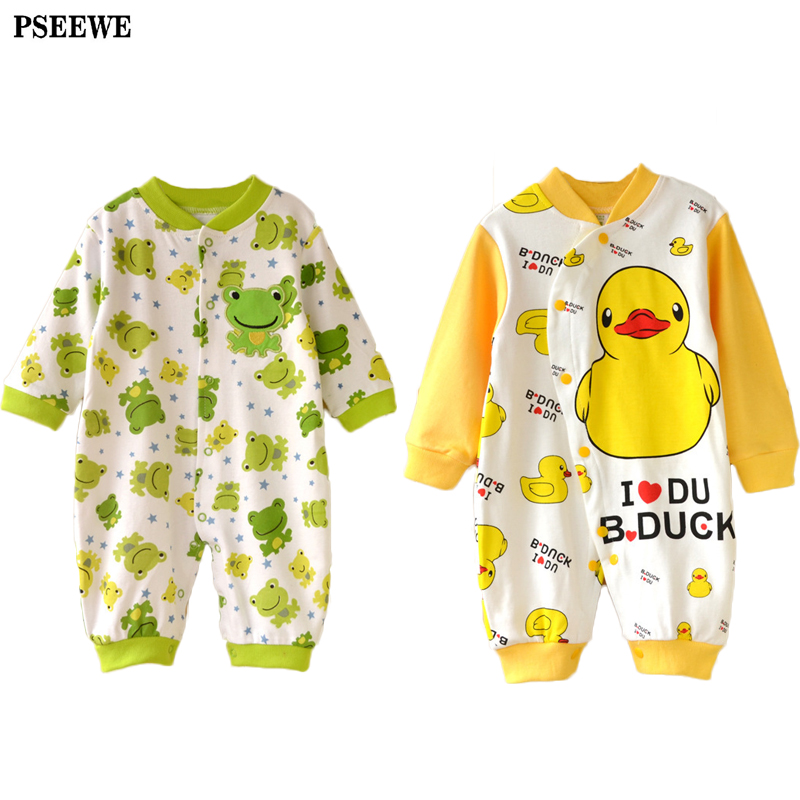 Newborn baby clothes bebe boy girl romper for baby pajamas Cotton Autumn winter Cartoon long sleeved new born baby rompers(China (Mainland))
