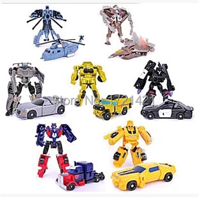 Free Shipping Hot Sale 7pcs/lot Robot Transformation Toys Kids Toys Transformation Autobots Optimus Prime Bumblebee Toy(China (Mainland))