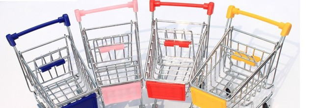 Creative mini supermarket shopping cart new receive a case mini trolley mini sundry receive the shopping cart