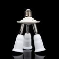 Adjustable 3 In 1 E27 to E27 LED Lamp Bulbs Socket Splitter Adapter Holder 90V 240V