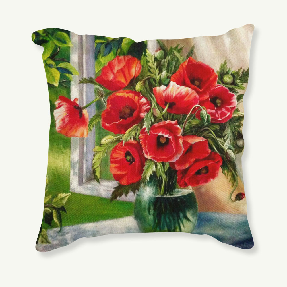 Vintage Decorative Home Cotton Linen Pillow Case Cover Living Room Bed Chair