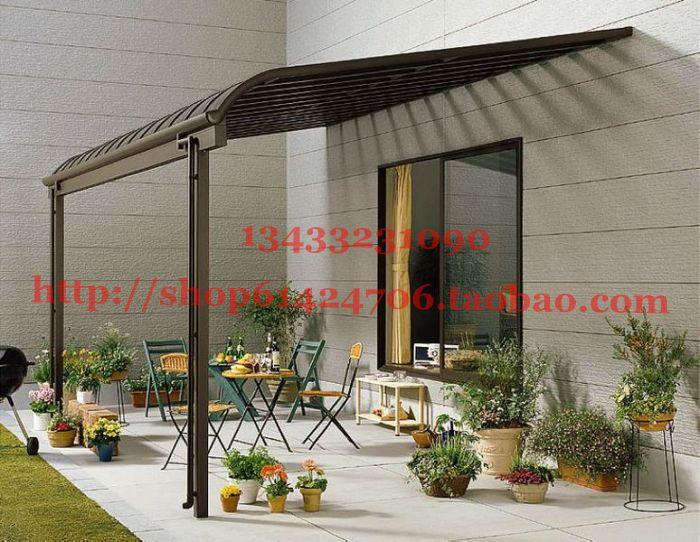 Quality aluminum alloy balcony cotans hood awned gazebo for Balcony canopy
